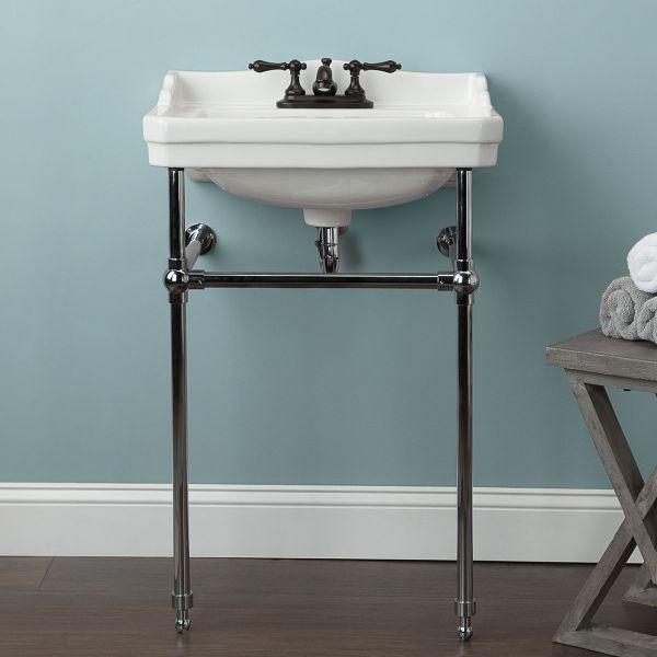 22 Inch Metal Console Bathroom Sink 4 Inch Centers