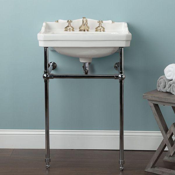 22 Inch Metal Console Bathroom Sink 8, Metal Bathroom Sink