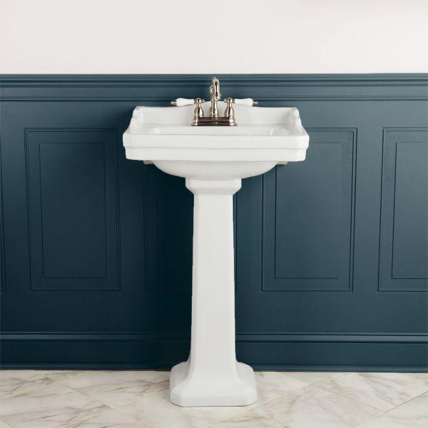 22 Inch Pedestal Bathroom Sink